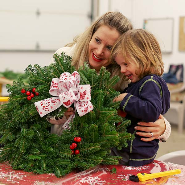 Fun at the wreath workshop